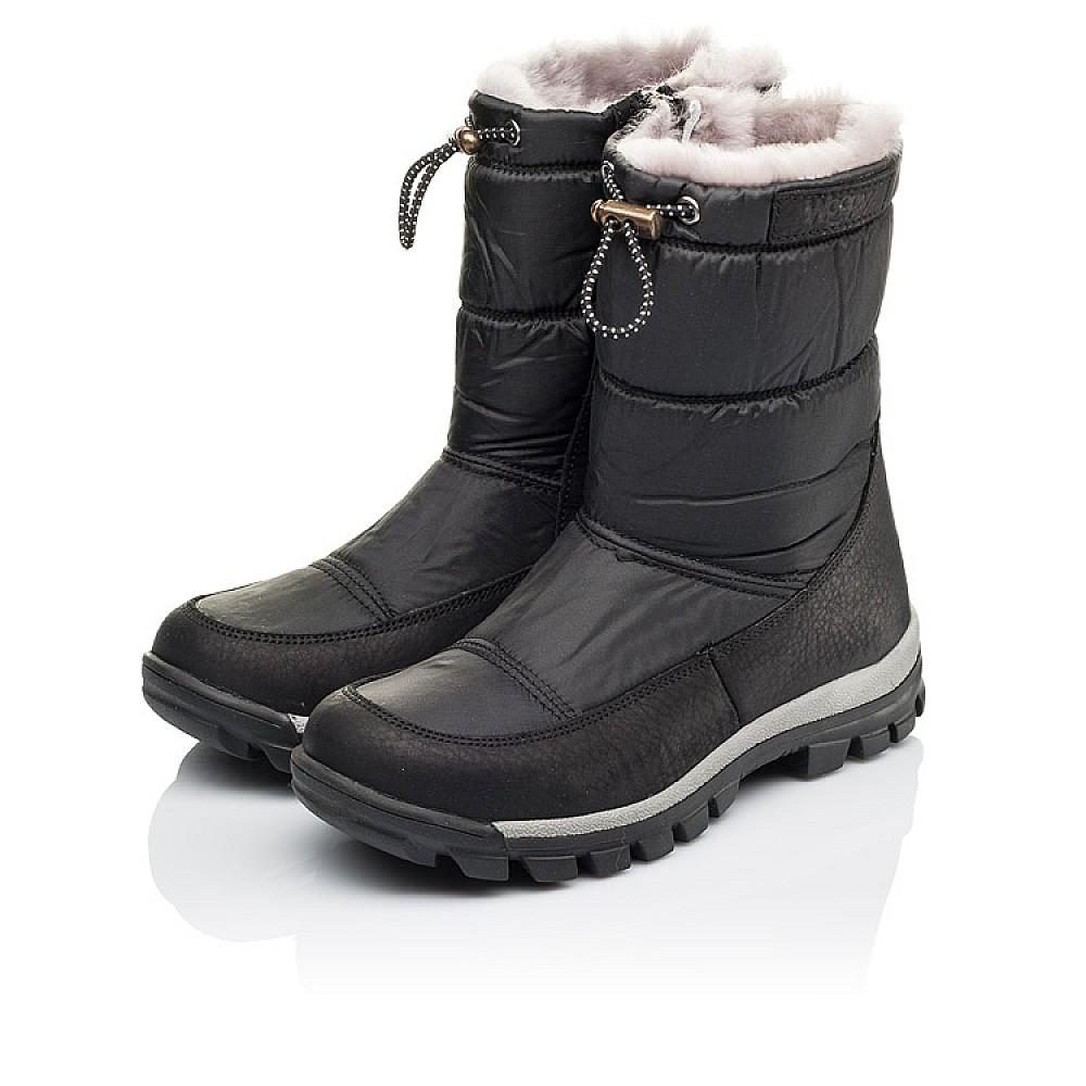 Детские зимние сапожки на меху Woopy Orthopedic черные для мальчиков искусственный материал и натуральная кожа размер 31-36 (3913) Фото 3