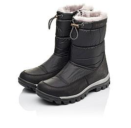 Детские зимние сапожки на меху Woopy Orthopedic черные для мальчиков искусственный материал и натуральная кожа размер - (3913) Фото 3