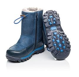 Детские зимние сапожкики на меху Woopy Orthopedic синие для мальчиков натуральный нубук размер 23-29 (3914) Фото 2
