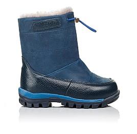 Детские зимние сапожкики на меху Woopy Orthopedic синие для мальчиков натуральный нубук размер 23-29 (3914) Фото 4