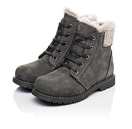 Детские зимние ботинки на меху Woopy Orthopedic серые для мальчиков натуральный нубук размер 29-32 (3915) Фото 3