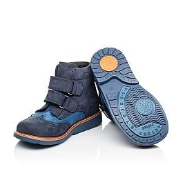 Детские демисезонные ботинки Woopy Orthopedic синие для мальчиков натуральный нубук размер 19-30 (3916) Фото 2