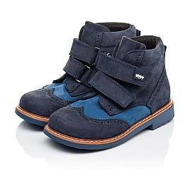 Детские демисезонные ботинки Woopy Orthopedic синие для мальчиков натуральный нубук размер 19-30 (3916) Фото 3