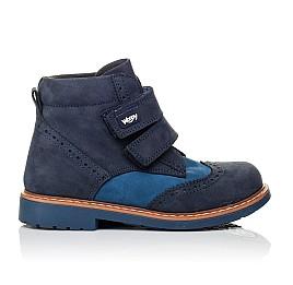 Детские демисезонные ботинки Woopy Orthopedic синие для мальчиков натуральный нубук размер 19-30 (3916) Фото 4
