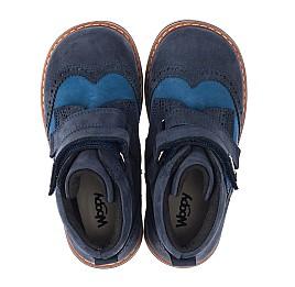 Детские демисезонные ботинки Woopy Orthopedic синие для мальчиков натуральный нубук размер 19-30 (3916) Фото 5