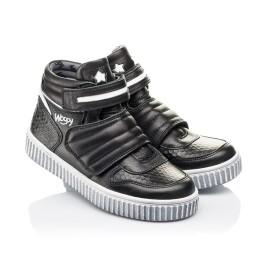 Детские демисезонные ботинки Woopy Orthopedic черные для мальчиков  натуральная кожа размер 26-40 (3919) Фото 1