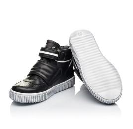 Детские демисезонные ботинки Woopy Orthopedic черные для мальчиков  натуральная кожа размер 26-40 (3919) Фото 2