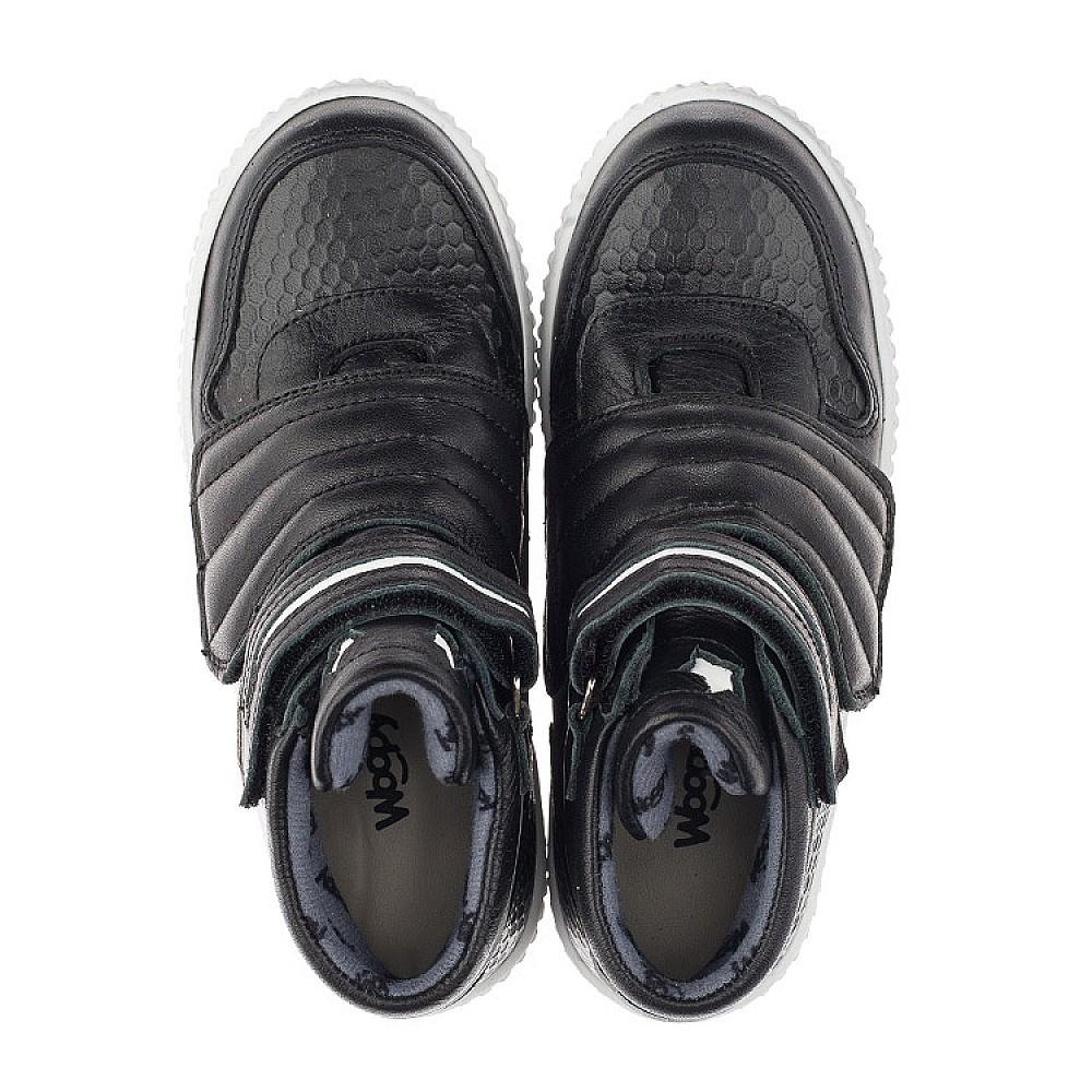 Детские демисезонные ботинки Woopy Orthopedic черные для мальчиков натуральная кожа размер 26-40 (3919) Фото 5