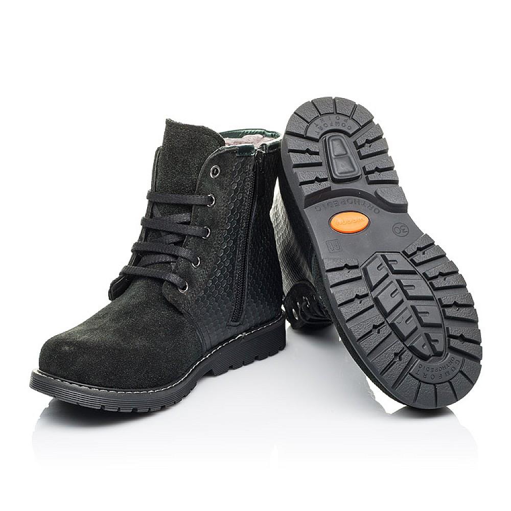 Детские зимние ботинки на меху Woopy Orthopedic черные для девочек натуральная кожа, замш размер 25-33 (3920) Фото 2