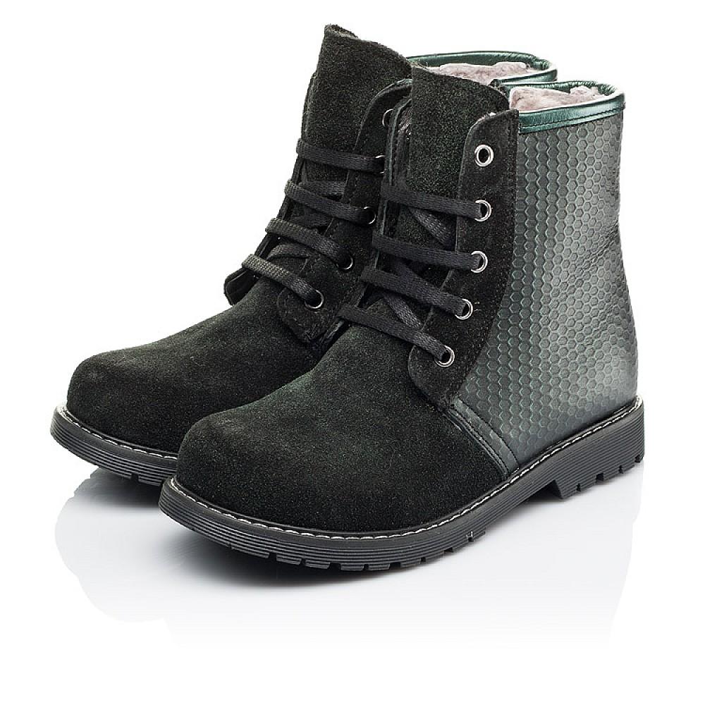 Детские зимние ботинки на меху Woopy Orthopedic черные для девочек натуральная кожа, замша размер 25-33 (3920) Фото 3