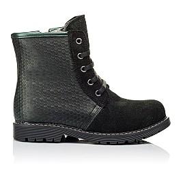 Детские зимние ботинки на меху Woopy Orthopedic черные для девочек  натуральная кожа, замш размер 25-33 (3920) Фото 4