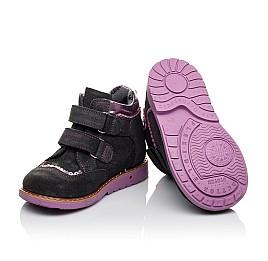 Детские демисезонные ботинки Woopy Orthopedic фиолетовые для девочек натуральный замш размер 18-28 (3921) Фото 2
