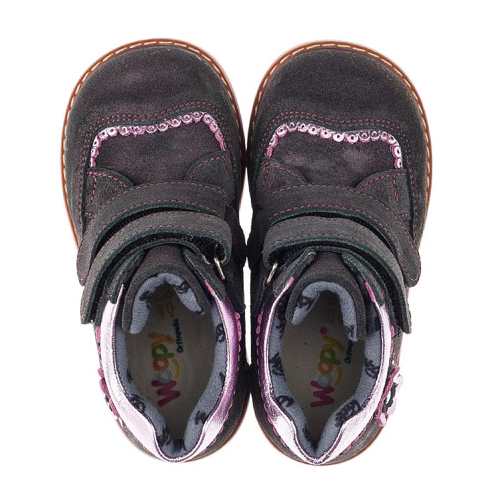 Детские демисезонные ботинки Woopy Orthopedic фиолетовые для девочек натуральная замша размер 18-28 (3921) Фото 5
