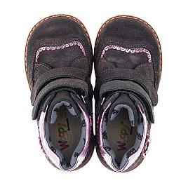 Детские демисезонные ботинки Woopy Orthopedic фиолетовые для девочек натуральный замш размер 18-28 (3921) Фото 5