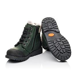 Детские зимние ботинки на меху Woopy Orthopedic зеленые для девочек натуральная кожа размер 26-31 (3923) Фото 2