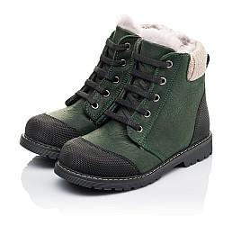 Детские зимние ботинки на меху Woopy Orthopedic зеленые для девочек натуральная кожа размер 26-31 (3923) Фото 3