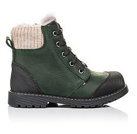Детские зимние ботинки на меху Woopy Orthopedic зеленые для девочек натуральная кожа размер 26-31 (3923) Фото 4