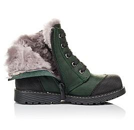 Детские зимние ботинки на меху Woopy Orthopedic зеленые для девочек натуральная кожа размер 26-31 (3923) Фото 5