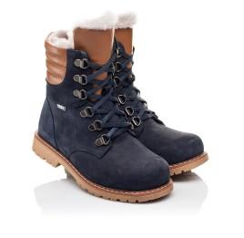 Детские зимние ботинки на меху Woopy Orthopedic синие для мальчиков натуральный нубук размер 26-31 (3925) Фото 1