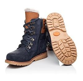 Детские зимние ботинки на меху Woopy Orthopedic синие для мальчиков натуральный нубук размер 26-31 (3925) Фото 2