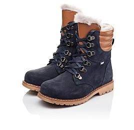 Детские зимние ботинки на меху Woopy Orthopedic синие для мальчиков натуральный нубук размер 26-31 (3925) Фото 3