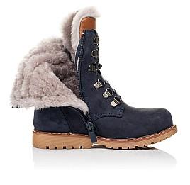 Детские зимние ботинки на меху Woopy Orthopedic синие для мальчиков натуральный нубук размер 26-31 (3925) Фото 5