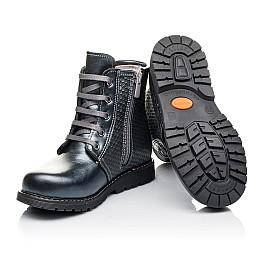 Детские зимние ботинки на меху Woopy Orthopedic серые для девочек  натуральная кожа размер 25-33 (3926) Фото 2