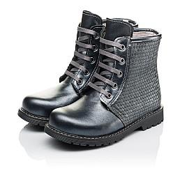 Детские зимние ботинки на меху Woopy Orthopedic серые для девочек  натуральная кожа размер 25-33 (3926) Фото 3