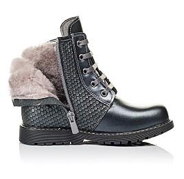 Детские зимние ботинки на меху Woopy Orthopedic серые для девочек  натуральная кожа размер 25-33 (3926) Фото 5