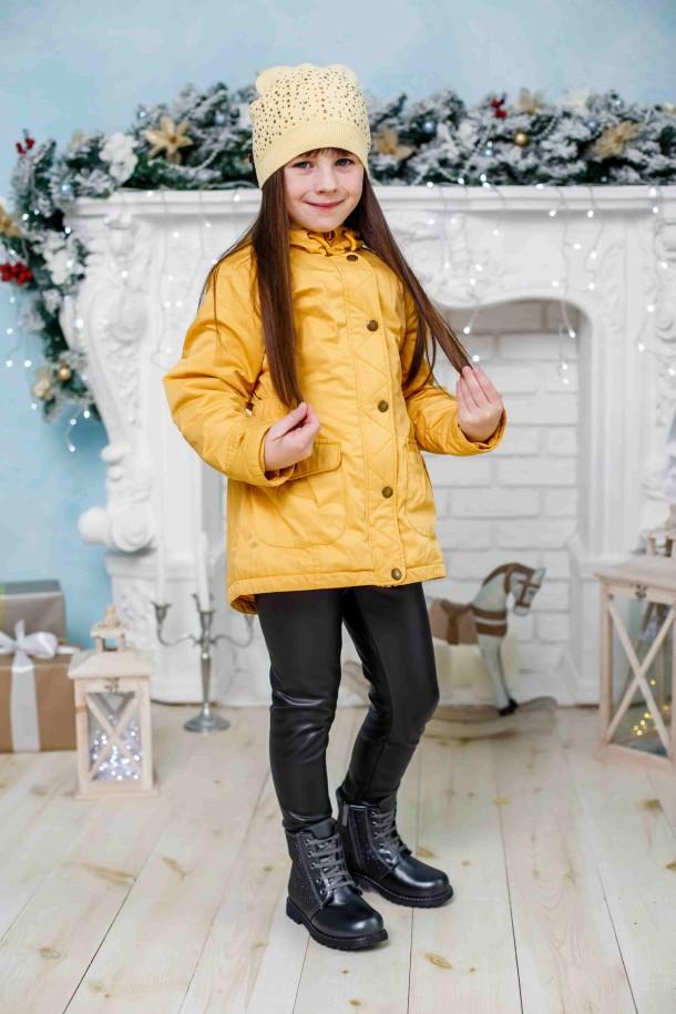 Девочка обута в детские зимние ботинки на меху Woopy Orthopedic серые (3926) Фото 1