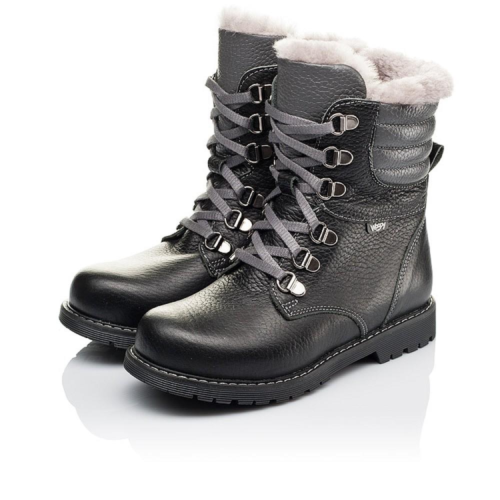 Детские зимние ботинки на меху Woopy Orthopedic черные для мальчиков натуральная кожа размер 26-36 (3928) Фото 3