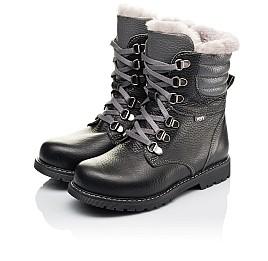 Детские зимние ботинки на меху Woopy Orthopedic черные для мальчиков  натуральная кожа размер 26-31 (3928) Фото 3