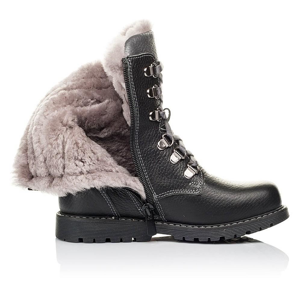 Детские зимние ботинки на меху Woopy Orthopedic черные для мальчиков натуральная кожа размер 26-36 (3928) Фото 5