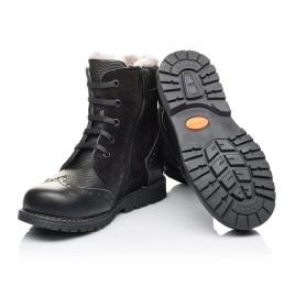 Детские зимние ботинки на меху Woopy Orthopedic черные для девочек  натуральная кожа, замша размер 26-36 (3929) Фото 2