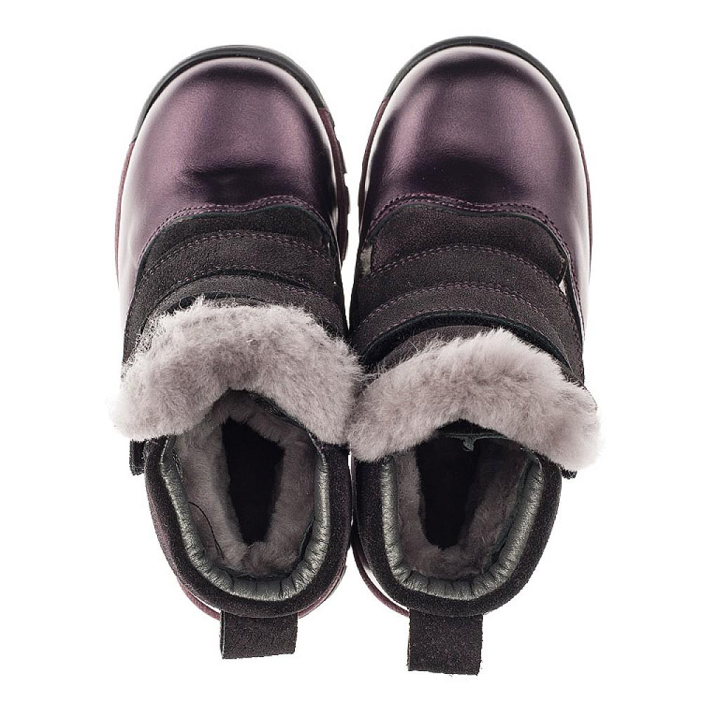 Детские зимние ботинки на меху Woopy Orthopedic фиолетовые для девочек натуральная кожа и нубук размер 21-33 (3931) Фото 2