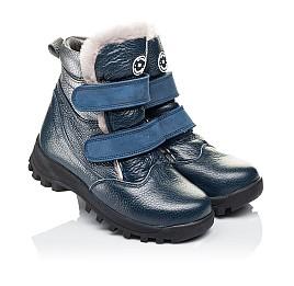 Детские зимние ботинки на меху Woopy Orthopedic синие для мальчиков натуральная кожа размер 22-22 (3933) Фото 1