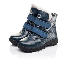Детские зимові черевики на хутрі Woopy Orthopedic синие для мальчиков натуральная кожа размер 21-32 (3933) Фото 3