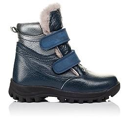 Детские зимние ботинки на меху Woopy Orthopedic синие для мальчиков натуральная кожа размер 22-22 (3933) Фото 4