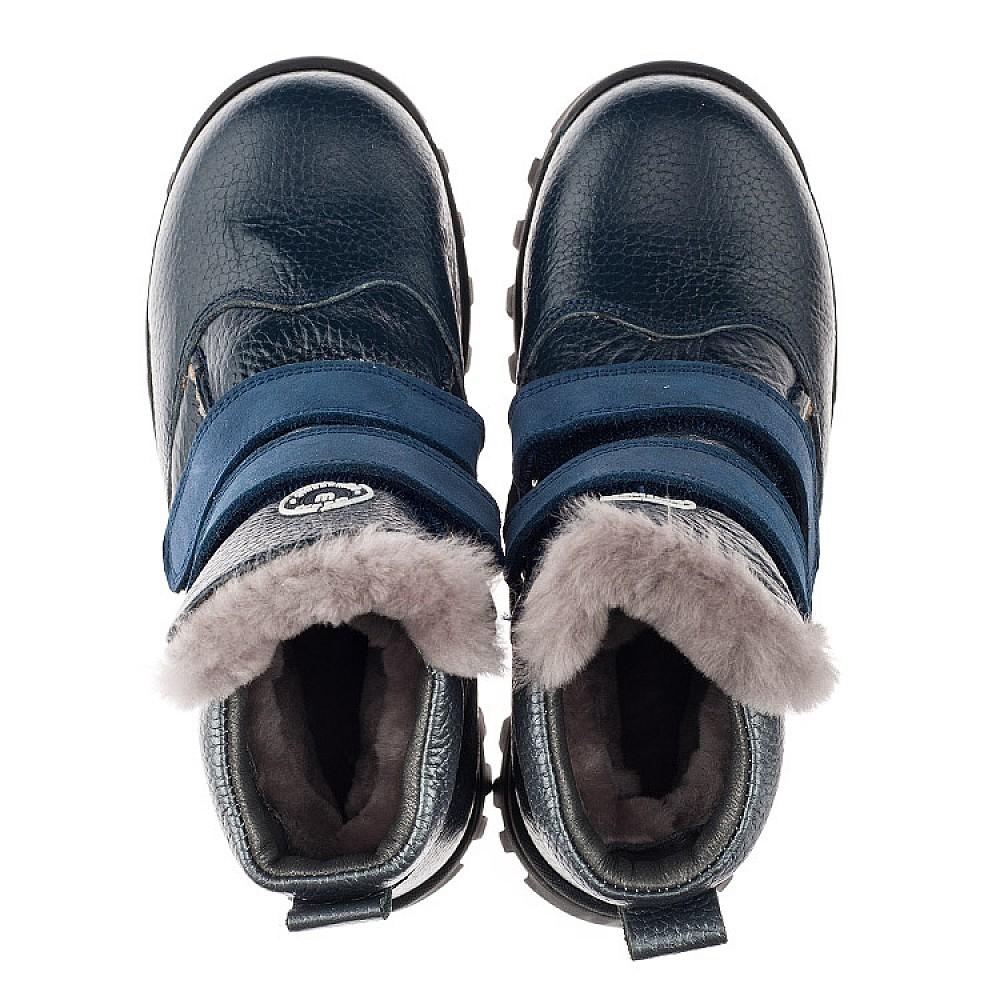 Детские зимние ботинки на меху Woopy Orthopedic синие для мальчиков натуральная кожа размер 21-34 (3933) Фото 5