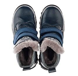 Детские зимові черевики на хутрі Woopy Orthopedic синие для мальчиков натуральная кожа размер 21-32 (3933) Фото 5