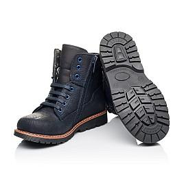 Детские демисезонные ботинки Woopy Orthopedic синие для мальчиков натуральный нубук размер 30-30 (3934) Фото 2