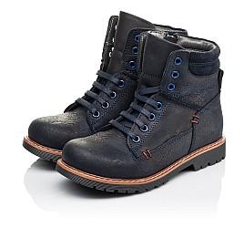 Детские демисезонные ботинки Woopy Orthopedic синие для мальчиков натуральный нубук размер 30-30 (3934) Фото 3