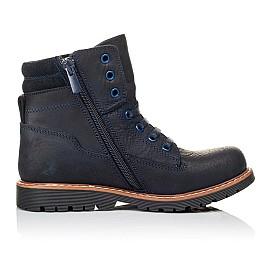 Детские демисезонные ботинки Woopy Orthopedic синие для мальчиков натуральный нубук размер 30-30 (3934) Фото 5