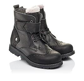 Детские зимові черевики на хутрі Woopy Orthopedic черные для мальчиков  натуральная кожа размер 26-31 (3935) Фото 1