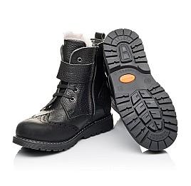 Детские зимові черевики на хутрі Woopy Orthopedic черные для мальчиков  натуральная кожа размер 26-31 (3935) Фото 2