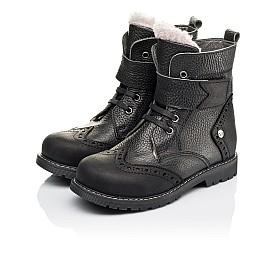 Детские зимові черевики на хутрі Woopy Orthopedic черные для мальчиков  натуральная кожа размер 26-31 (3935) Фото 3