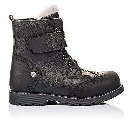 Детские зимові черевики на хутрі Woopy Orthopedic черные для мальчиков  натуральная кожа размер 26-31 (3935) Фото 4