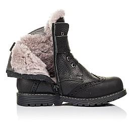 Детские зимові черевики на хутрі Woopy Orthopedic черные для мальчиков  натуральная кожа размер 26-31 (3935) Фото 5