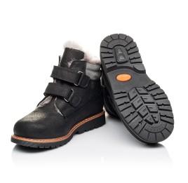 Детские зимові черевики на хутрі Woopy Orthopedic черные для мальчиков натуральный нубук размер 25-27 (3936) Фото 2