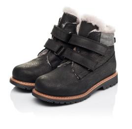 Детские зимові черевики на хутрі Woopy Orthopedic черные для мальчиков натуральный нубук размер 25-27 (3936) Фото 3